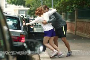 Spotkanie w czasie biegania reklamuje konto w mBanku