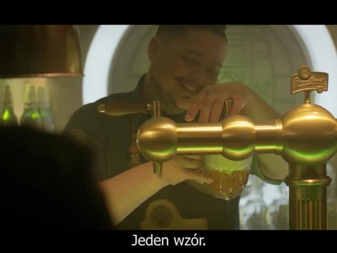 """""""Wzór piwnego smaku"""" - reklama piwa Pilsner Urquell"""