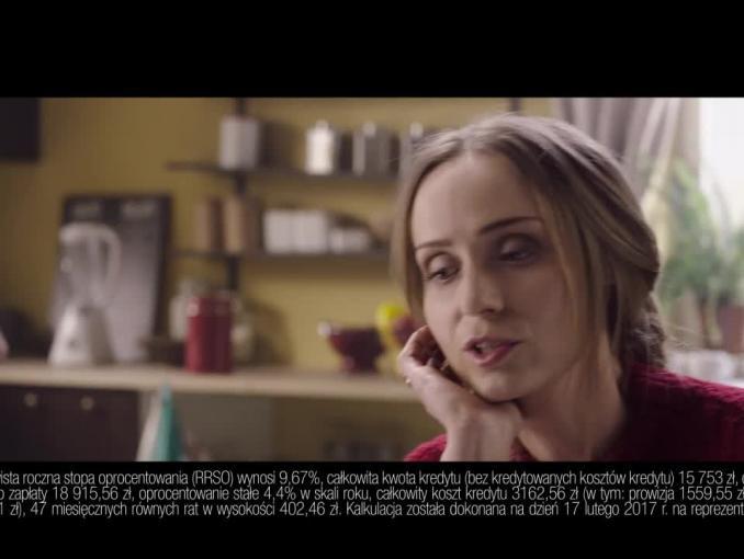 Bank BGŻ BNP Paribas reklamuje kredyt Happy End