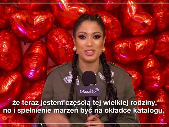 Patricia Kazadi reklamuje kosmetyki #Mark od Avon