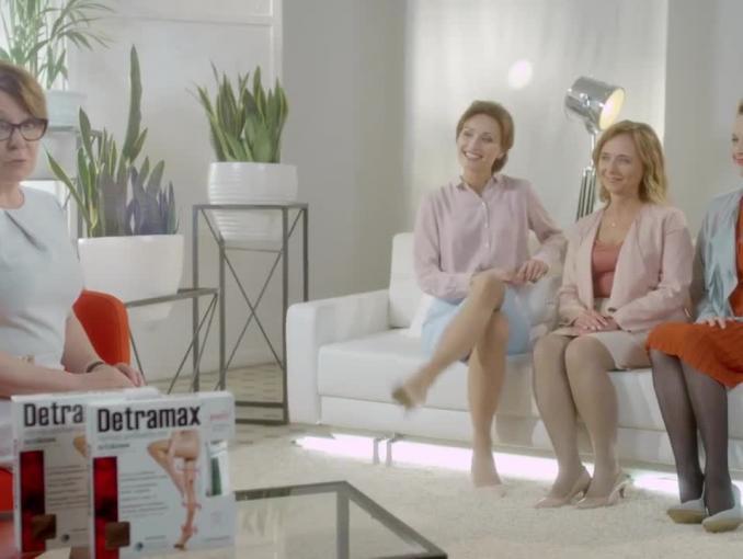 Krystyna Czubówna reklamuje rajstopy Detramax