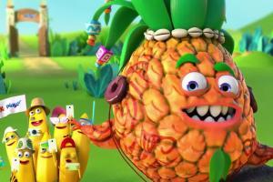 Ananas leci na banany - spot Kubuś Play