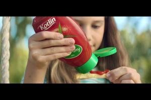 """""""I love ketchup"""" - reklama ketchupu Kotlin"""