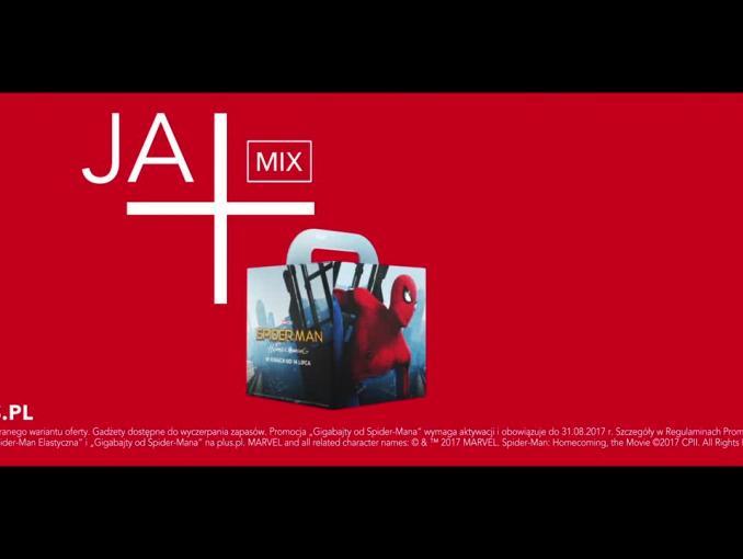 Plus: Spiderman w reklamie 15 GB gratis w Ja+Mix