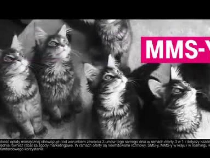 T-Mobile 1 - Bez Limitu - reklama z kotami