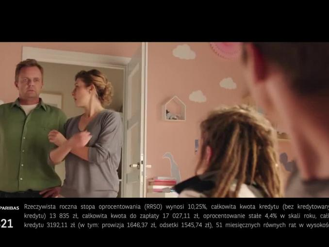 Kredyt gotówkowy Wszystko Gra w BGŻ BNP Paribas - spot z rodzicami i córką
