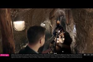 Radosław Kotarski w kopalni reklamuje Konto 360° w Banku Millennium