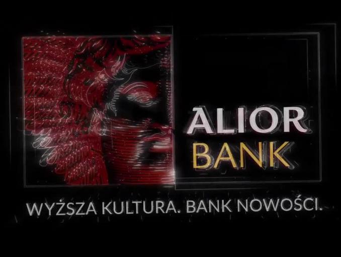 """Alior Bank z hasłem """"Wyższa kultura. Bank nowości"""""""