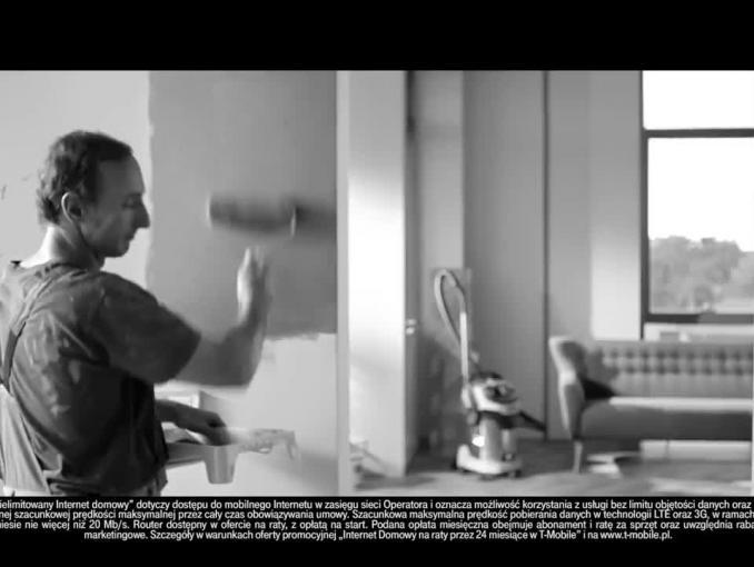 Prosto i bez fachowców - reklama nielimitowanego internetu domowego od T-Mobile