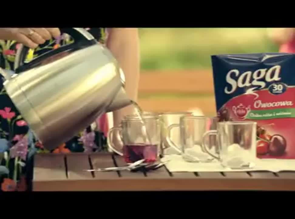 reklama herbaty Saga