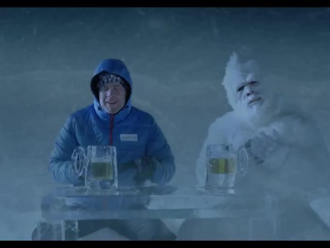 Yeti w reklamie Morizon.pl