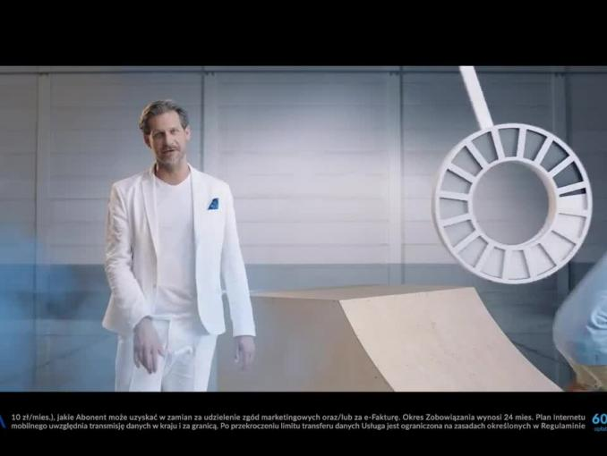 Internet w Vectrze - reklama ze skate'em