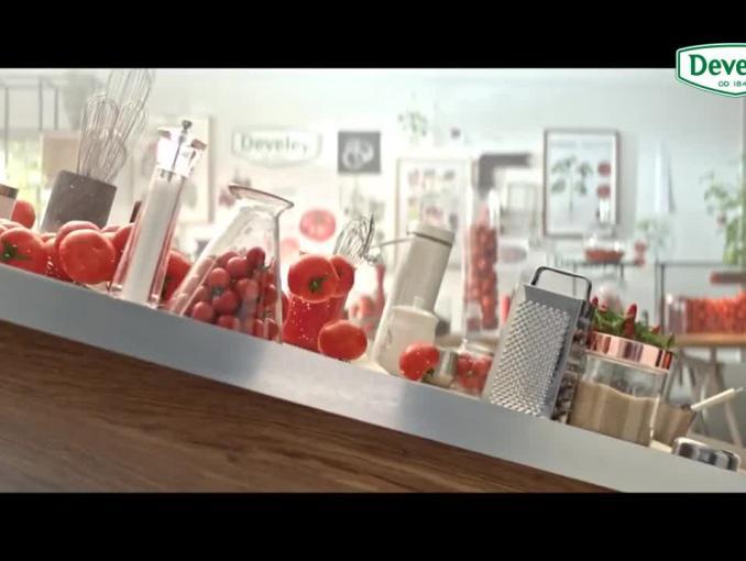 """""""Tak smakuje jakość"""" - reklama Develey"""