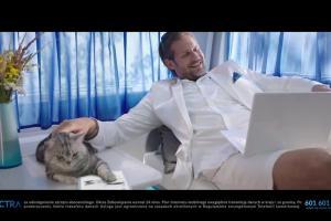 Vectra reklamuje internet mobilny dla kota