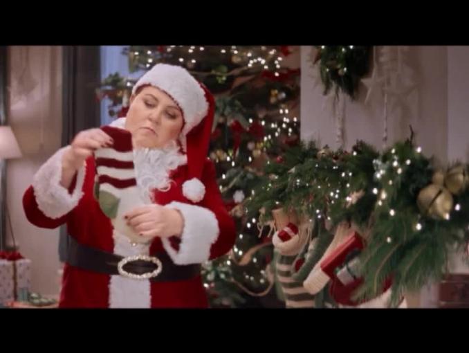 Dorota Wellman jako Święty Mikołaj w świątecznej oprawie TVN
