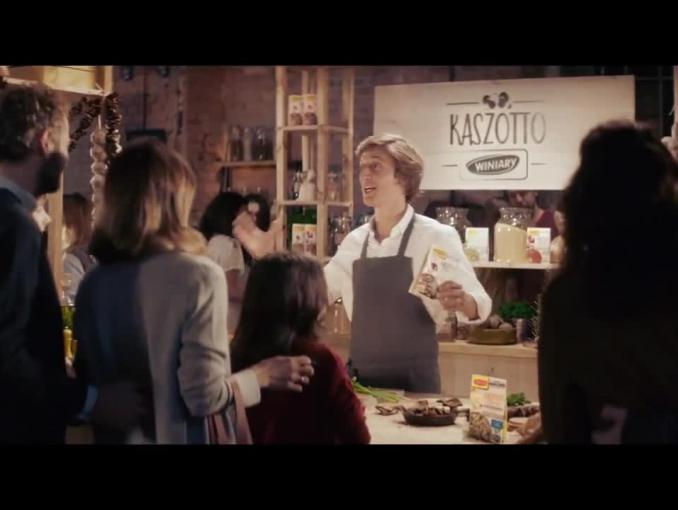 David Gaboriaud reklamuje Kaszotto Winiary