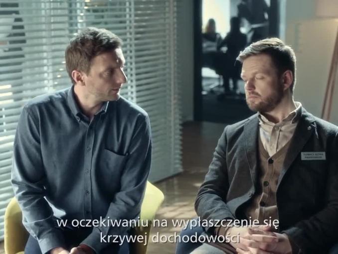 Tłumacz języka finansowego reklamuje Aviva.pl