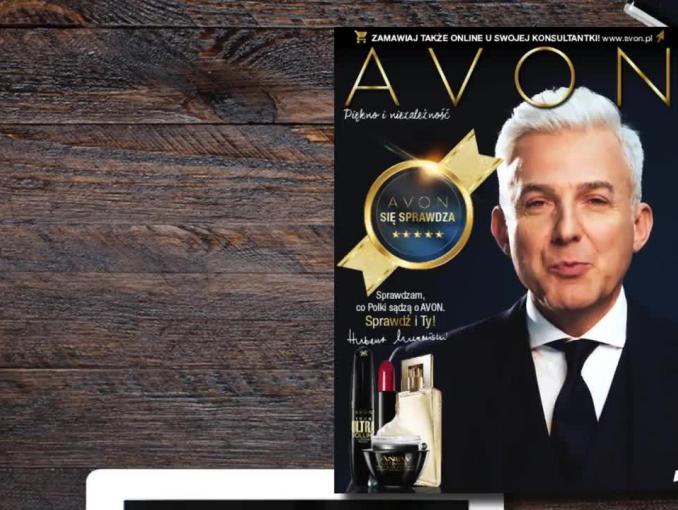Hubert Urbański w kampanii reklamowej Avon