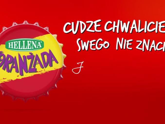 Czesław Mozil w reklami Oranżady Hellena