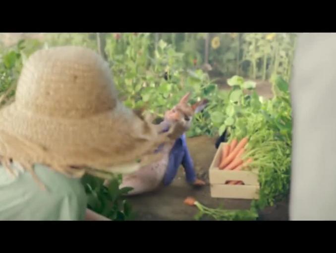 Szymon Majewski rozmawia z królikiem w reklamie Mix Boxu w Plusie
