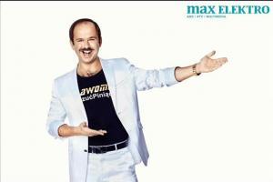 Sławomir Zapała reklamuje sklepy Max Elektro