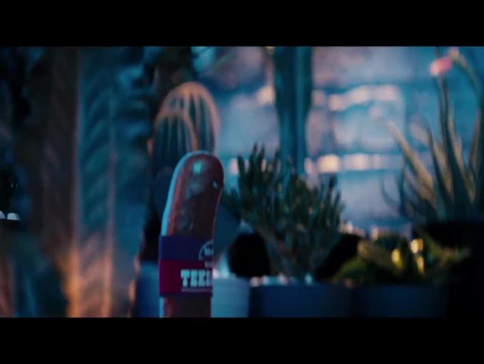 Kiełbasa Teksańska Morliny - westernowa reklama