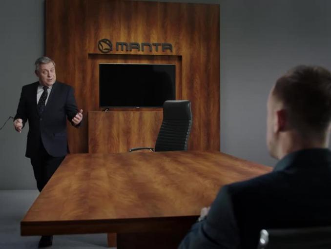 Kamil Grosicki jako ambasador reklamuje telewizor Manta