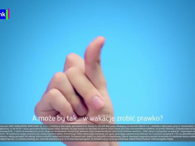 """Blowek w kampanii """"1000 złotych pomysłów"""" mBanku"""