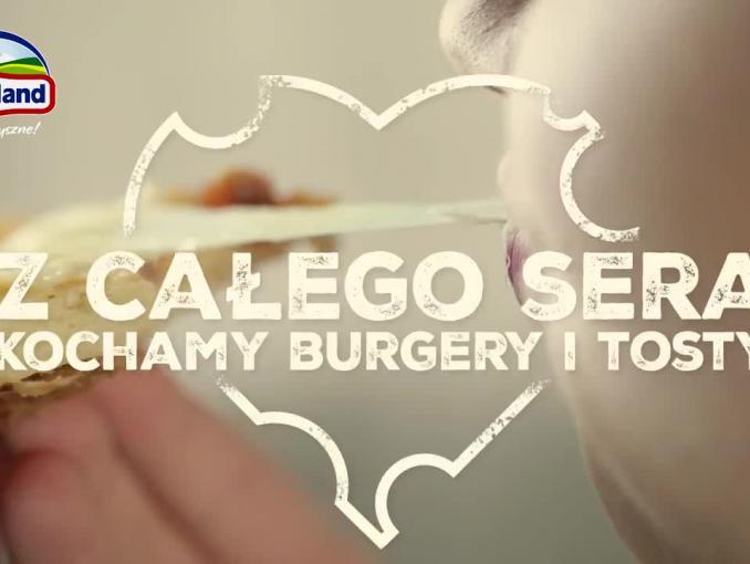 """""""Z całego sera kochamy burgery i tosty"""" w spocie Hochland"""