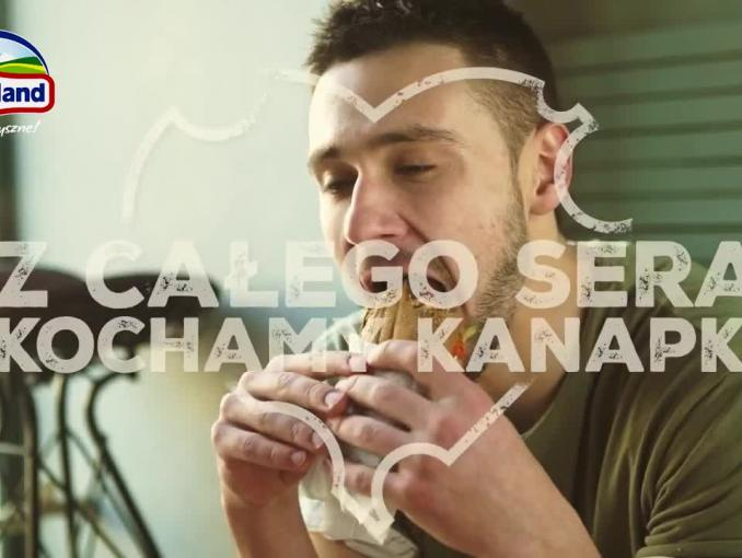 Ser żółty Hochland reklamowany do kanapek