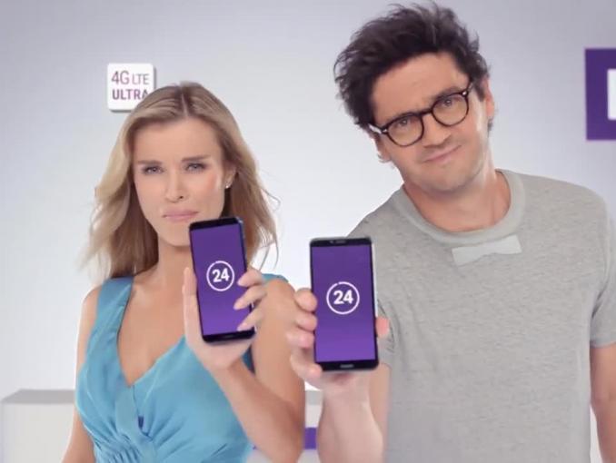 Joanna Krupa i Kuba Wojewódzki reklamują Huawei Y6 2018 w Play Pokolenia