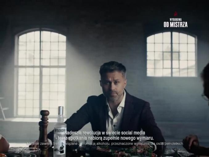 Maciej Zakościelny w spocie wódki Wyborowa
