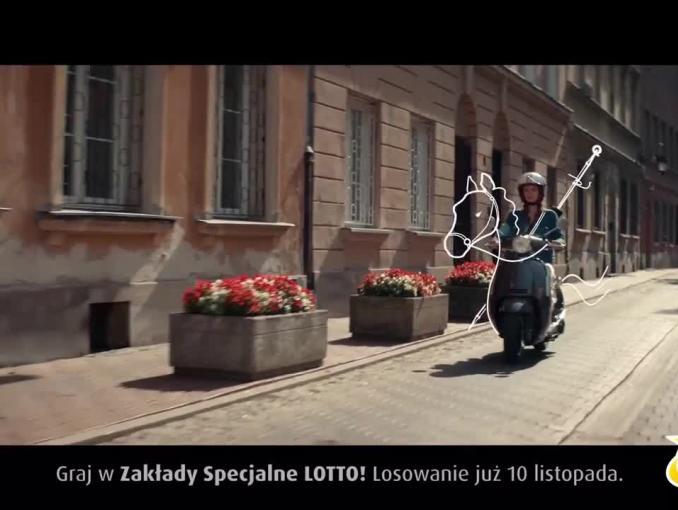 Kamil Bednarek w rocznicowej reklamie Lotto