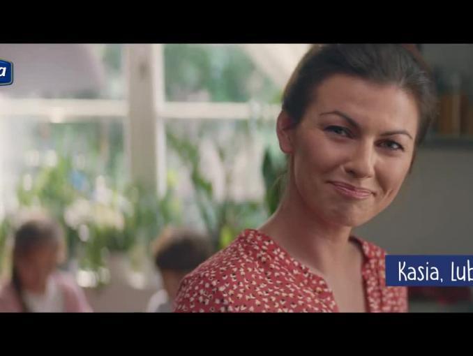 Wielki kobiecy test reklamuje makaron Lubella
