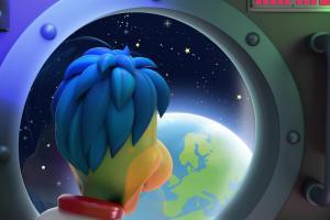 Kosmiczna reklama Danonków
