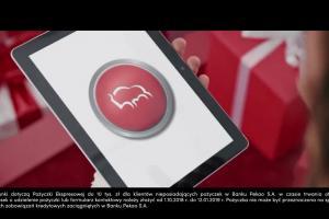 Bank Pekao ze Świętymi Mikołajami reklamuje Pożyczkę Przekorzystną