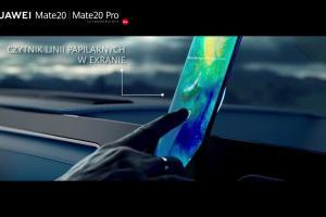 Robert Lewandowski w samochodzie reklamuje Huawei Mate20 Pro