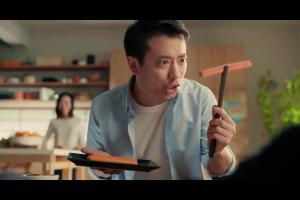 Japońska rodzina w reklamie parówek z indyka Tarczyński