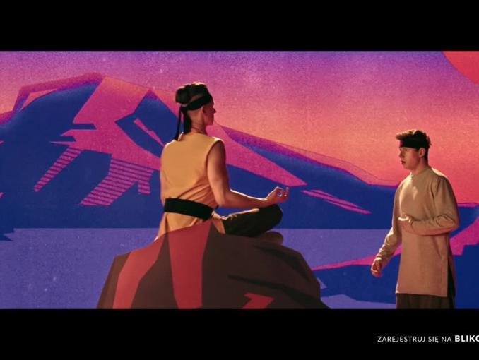 Mistrz Haj-Si-Wa reklamuje BLIK