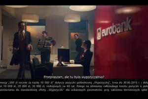 Wypożyczalnia pieniędzy dla wampirów w spocie eurobanku