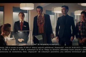 Wiara w wampiry reklamuje pożyczkę w eurobanku