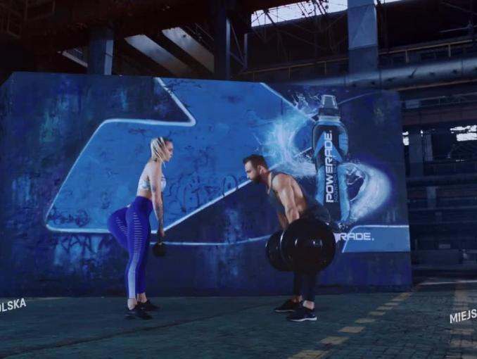 Kasia Wolska, Maja Włoszczowska, Miejski Drwal i Warszawski Biegacz w reklamie Powerade