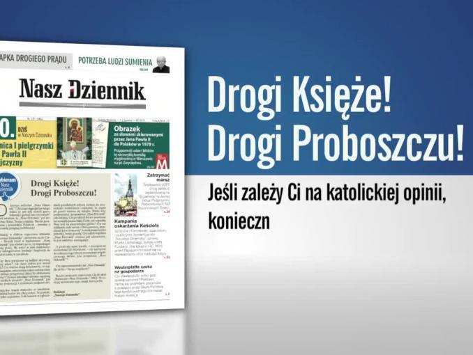 """""""Nasz Dziennik"""" apeluje do księży o prenumeratę"""