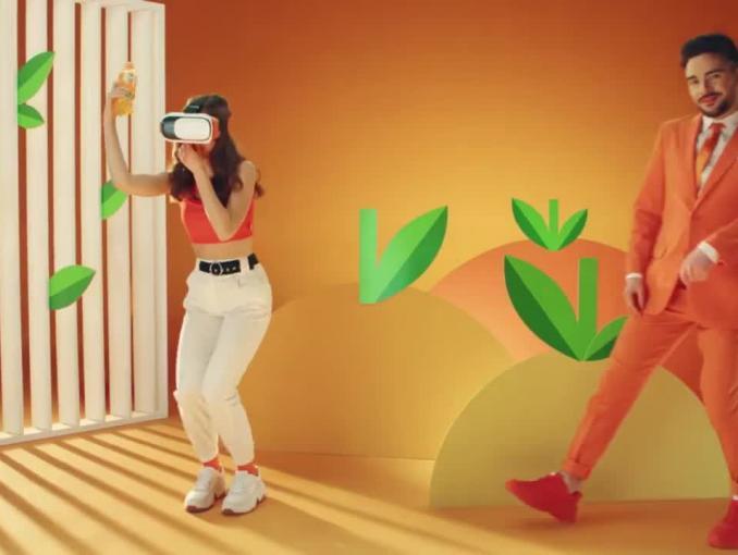 Marysia Jeleniewska w reklamie Fanty