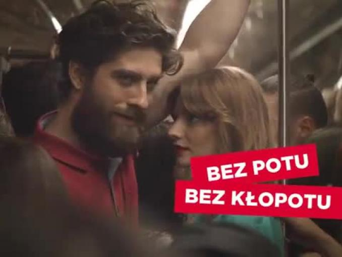 """""""Bez potu, bez kłopotu"""" - reklama antyperspirantów Hidrofugal"""