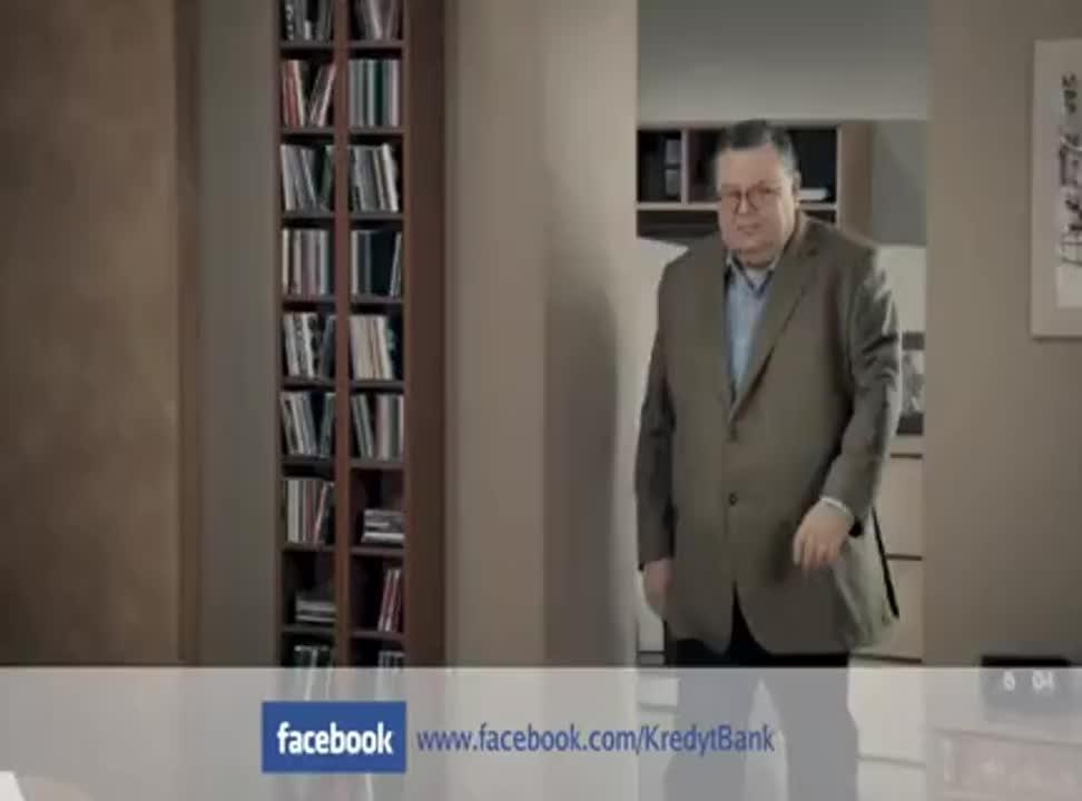 kredyt gotowkowy w Kredyt Banku - reklama z Mannem i Materną