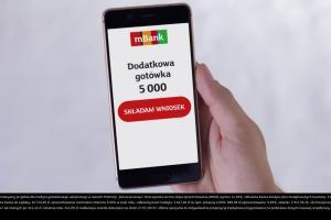 mBank promuje kredyt od ręki w telefonie