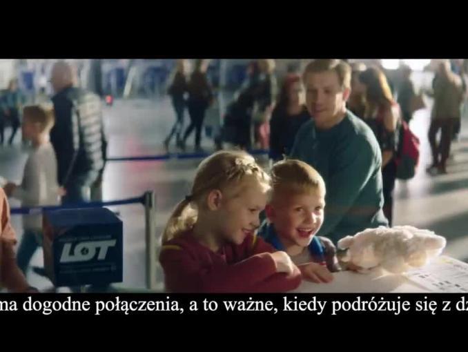 """""""Bądź naszym gościem"""" - rodzinna reklama PLL LOT"""