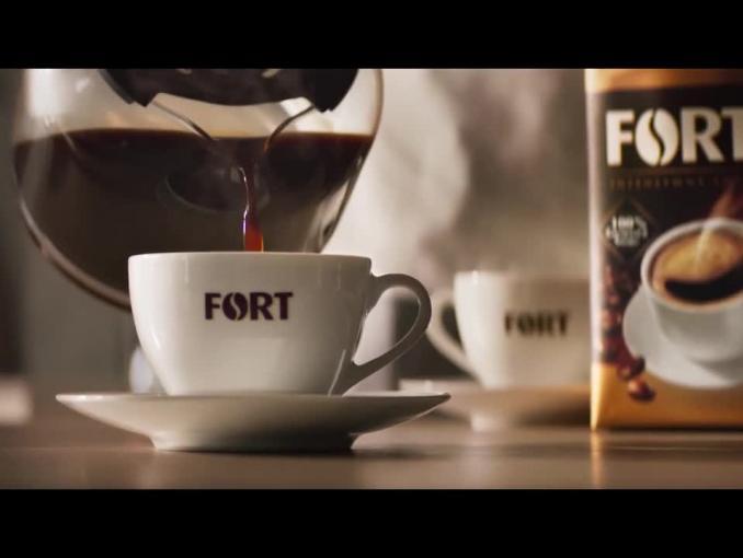 """Fort reklamowany jako """"esencja dobrej kawy"""""""