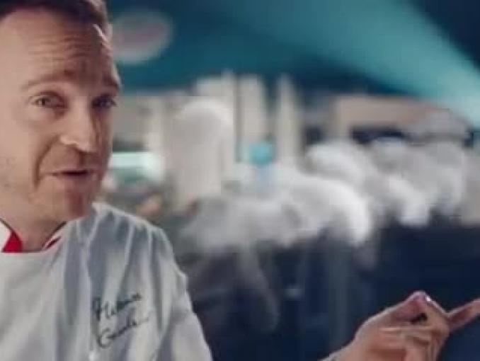 Mateusz Gessler reklamuje zupy gotowe Hortex